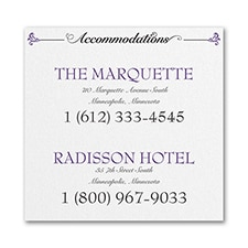 Avenue of Dreams - Accommodation Card