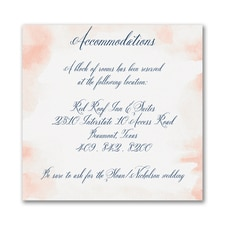 Romantic Watercolor - Accommodation Card