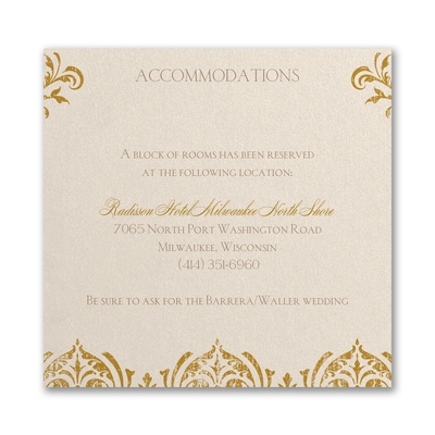 Delicate Romance - Accommodation Card
