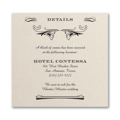 Elegant Deco - Accommodation Card