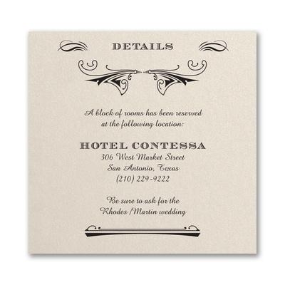 Elegant Deco - Accommodation Card