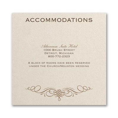 Elegant Swirls - Accommodation Card