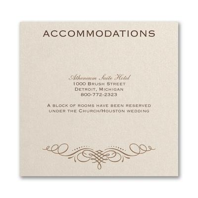 Elegant Swirls - Accommodation Card