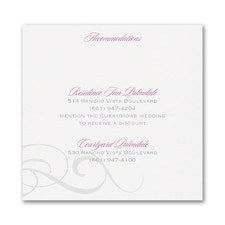 Charming Type - Accommodation Card