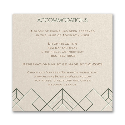 Striking Geo - Accommodation Card
