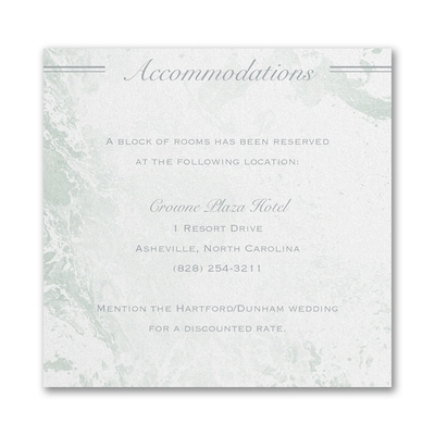 Dazzling Geometric - Accommodation Card