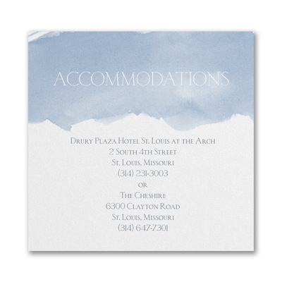 Picturesque Watercolor - Accommodation Card