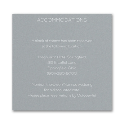 Romantic Border - Accommodation Card