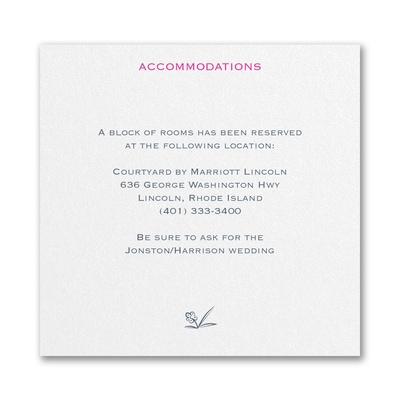 Floral Monogram - Accommodation Card