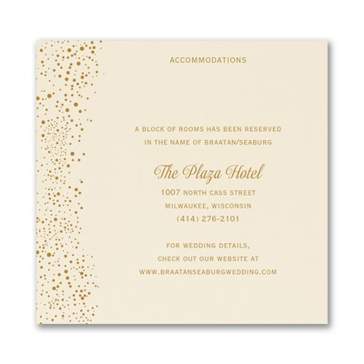 Champagne Delight - Accommodation Card