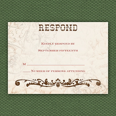 Rustic River - Response Card and Envelope