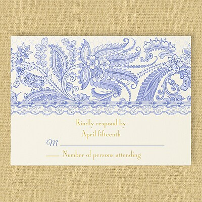 Lace Artistry - Response Card and Envelope