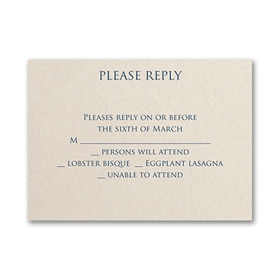 Classico - Response Card and Envelope