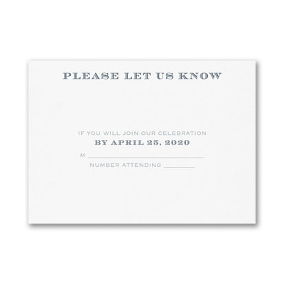 Passionate Monogram - Response Card and Envelope