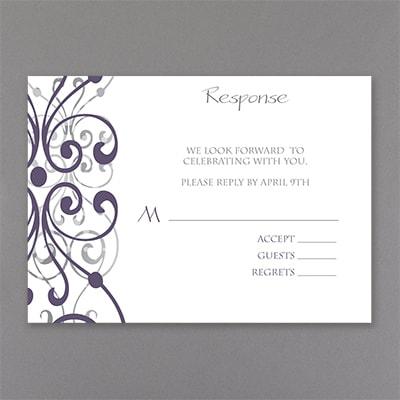 Stately Scrolls - Response Card and Envelope