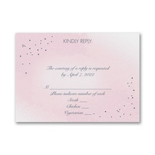 Champagne Wedding - Response Card and Envelope