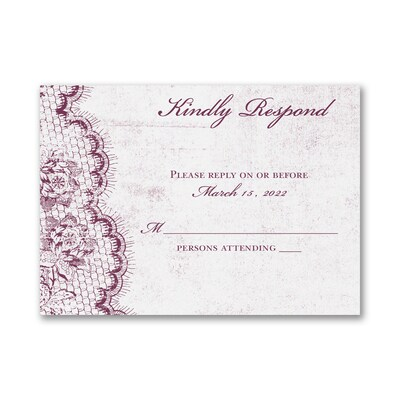 Timeless Lace - Response Card and Envelope