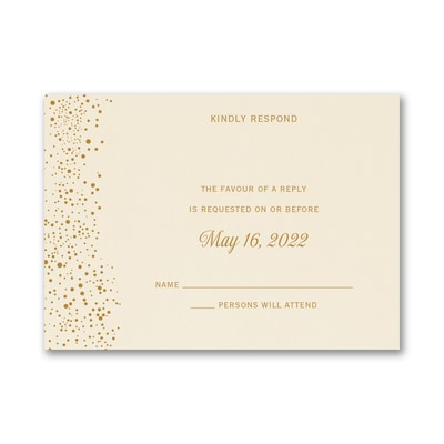 Champagne Delight - Response Card and Envelope
