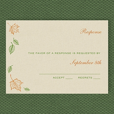 Maple Breeze - Response Card and Envelope