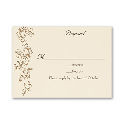 French Floret - Response Card and Envelope