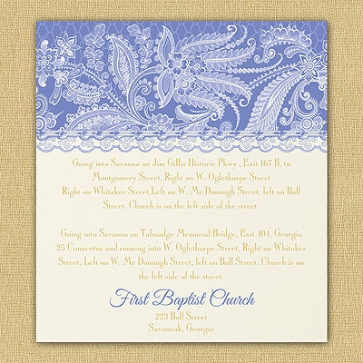 Lace Artistry - Map Card