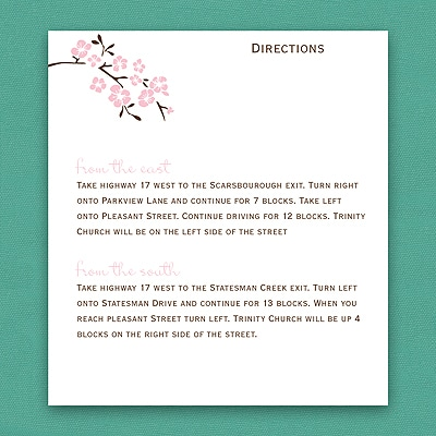 Inflorescence - Map Card