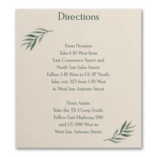 Love Vines - Direction/Map Card