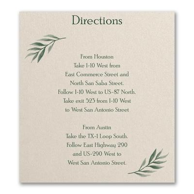 Love Vines Directionmap Card Carlson Craft Wedding Stationery