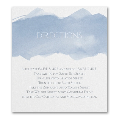 Picturesque Watercolor - Direction/Map Card