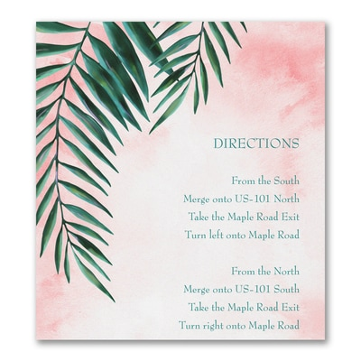 Artful Greenery - Direction/Map Card