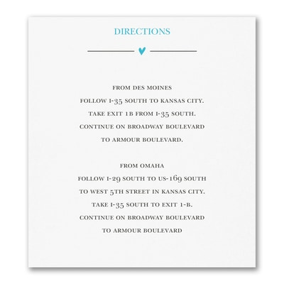 Wedding Whimsy - Direction/Map Card