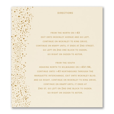 Champagne Delight - Direction/Map Card