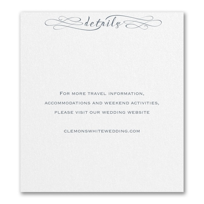 Sophisticated Script - Direction/Map Card
