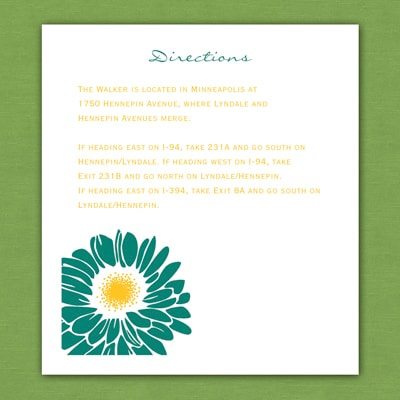 Thermo Dizzy Daisies - Direction Card