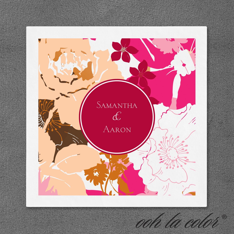 Floral Dream - Napkin - Merlot > Personalized Napkins | Holiday ...