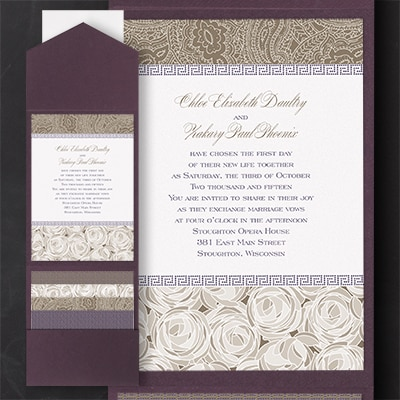 Pattern Play - Pocket Invitation