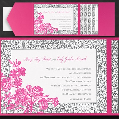 Fretwork Fantasy - Pocket Invitation