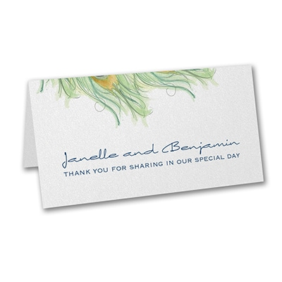 Peacock Charm - Place Card