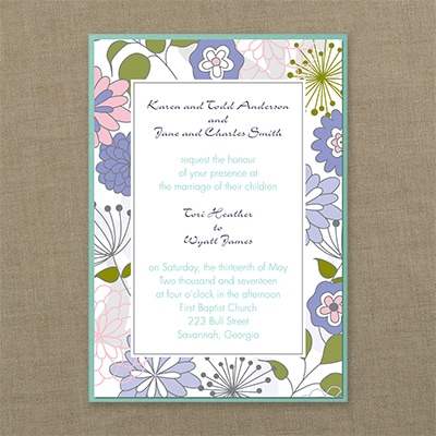 Joyful Blooms - Layered Invitation - Blossom