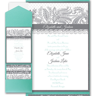 Lace Artistry - Layered Pocket Invitation