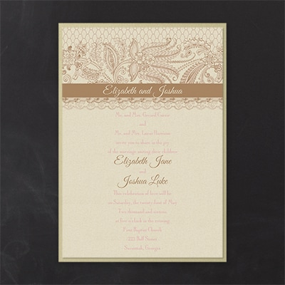 lace artistry layered invitation wedding invitations carlson