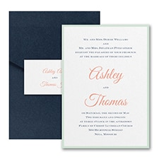 Timeless Elegance - Invitation with Pocket and Backer