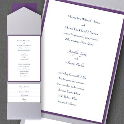Thermo Timeless Elegance - Layered Pocket Invitation