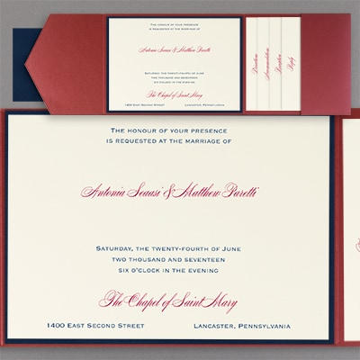 Simple Elegance - Layered Pocket Invitation