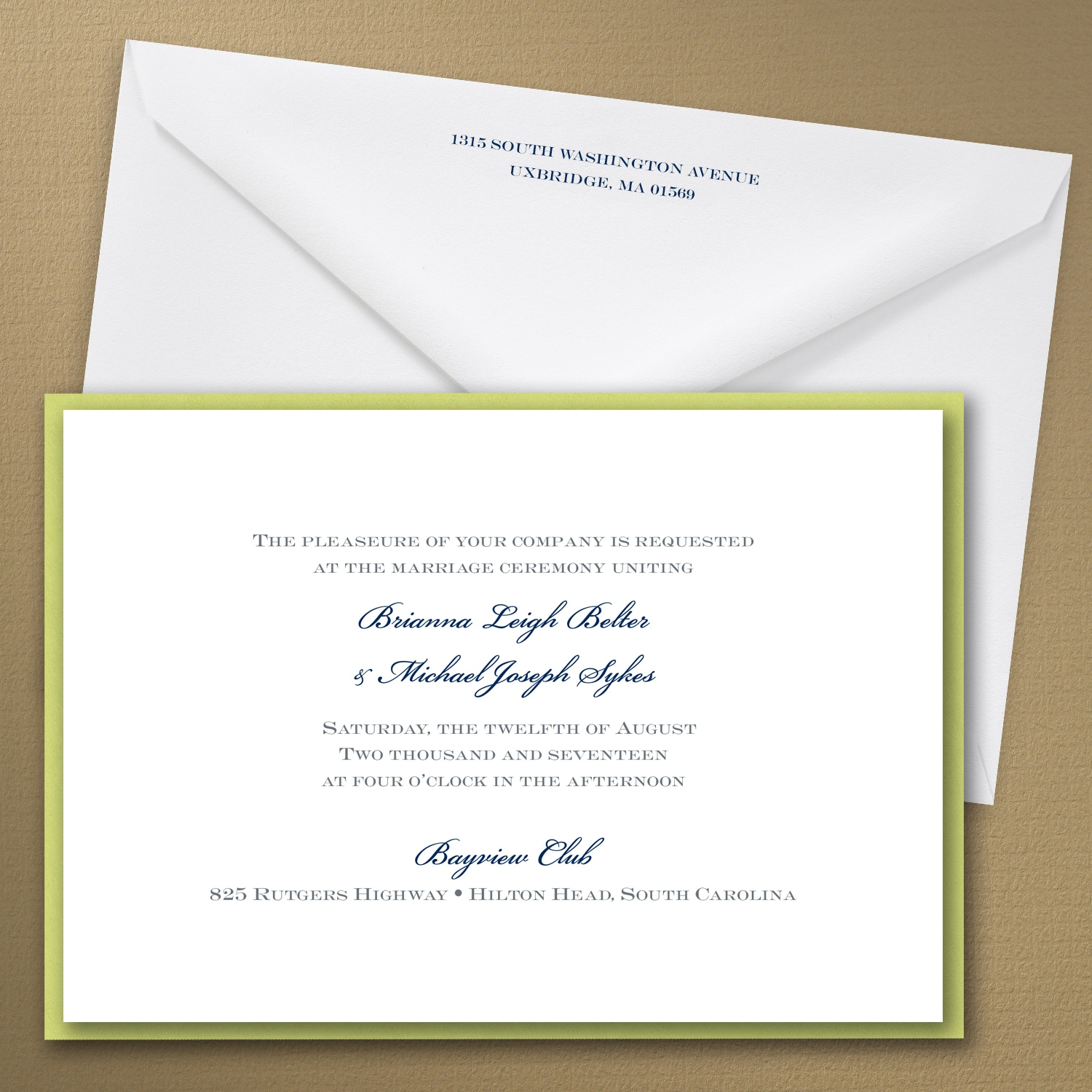 Thermo Classico - Layered Invitation > Wedding Invitations | Carlson ...