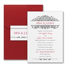 Pocket Invitation: Antique Sophistication