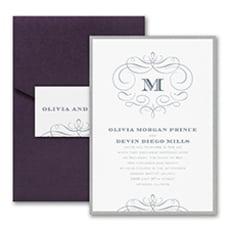 Passionate Monogram - Pocket Invitation