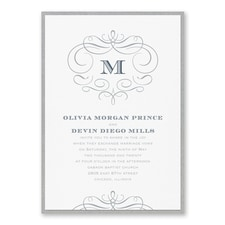Passionate Monogram - Invitation with Backer