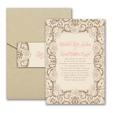 Timeless Flourish - Pocket Invitation