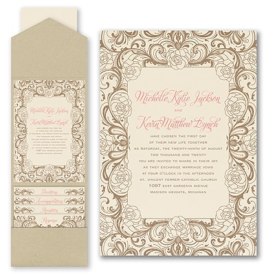 Timeless Flourish - Invitation with Pocket